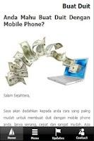Screenshot of Buat Duit Dengan Smartphone