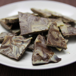 White and Dark Paleo Mint Chocolate Bark
