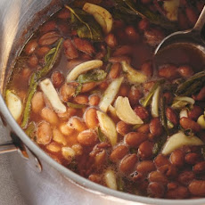 Cranberry Beans With Charred Peppers And Mustard Greens Recipe