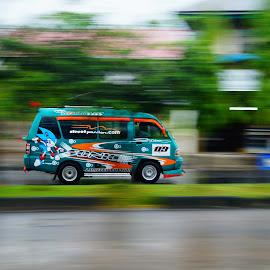 angkot by Fajrin Ar Rahman - Transportation Automobiles