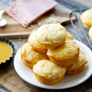 Ham & Swiss Puffs with Smokey Honey Mustard