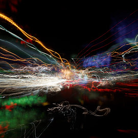 night ride, 2014 by Brut Carniollus - Abstract Light Painting ( lights, abstract, light painting, night photography )