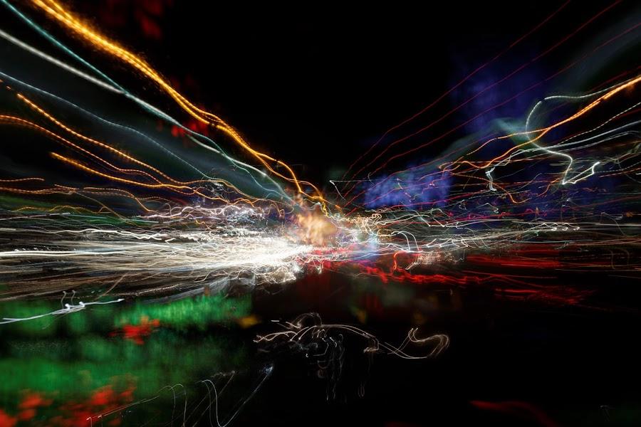 night ride, 2014 by Brut Carniollus - Abstract Light Painting ( lights, abstract, light painting, night photography, , city at night, street at night, park at night, nightlife, night life, nighttime in the city )