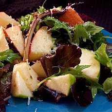 Mixed Apple Salad over Greens