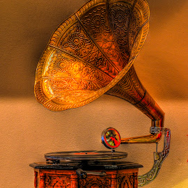 Gramophone by Sergios Georgakopoulos - Artistic Objects Antiques ( gramophone, old, hdr, antique )
