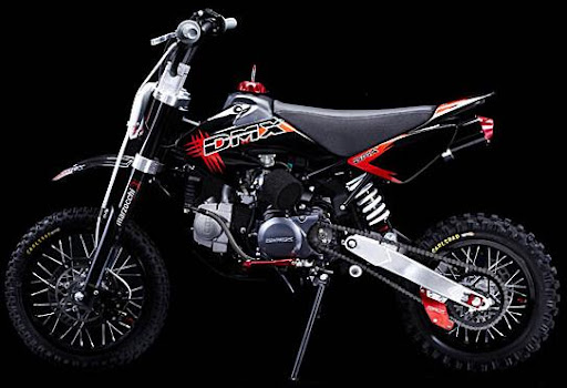 DMX Pro 140 Pit Bike Marzocchi Forks DNM Shock