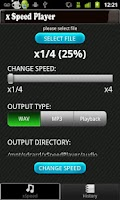 Screenshot of AudioSpeedChange: xSpeedPlayer
