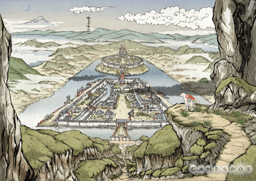 Overview of Sei-an City in Okami