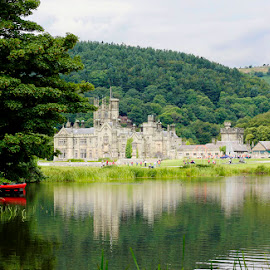 Margam House by Amanda Callow - Buildings & Architecture Public & Historical ( wales, reflections, monument, historical, landscape )