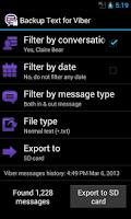 Screenshot of Backup Text for Viber