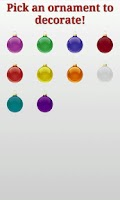Screenshot of Christmas Ornaments and Tree
