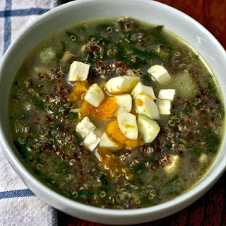 Quinoa Chowder with Cumin, Feta, and Spinach
