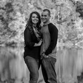 Day 4 of the Black and White challenge. Snapped this pic while out enjoying the last warm days of Fall at Wallace State Park. Thanks for liking the picture. Please remember to like our page if you like our pictures. Scott Mckay Photography. by Scott Mckay - People Couples