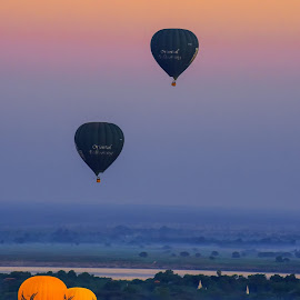 Hot Air Balloons @ Myanmar 2014 Bagan- Sunrise by Suki Singh - Landscapes Travel