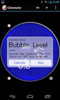 Screenshot of Clinometer + bubble level