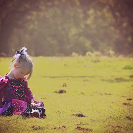 Muddy 2 by Kelly Murdoch - Babies & Children Children Candids ( grass, woods, spring, ztam, colour, muddy, fancy dress, girl, mud, ztam photography, female, puddles, wellies, trees, dressing up, walk )