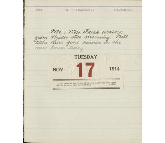 After a delay of several months, Mr. and Mrs. Frick moved into the house on November 17, 1914.