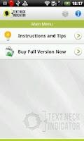 Screenshot of Text Neck Indicator LITE