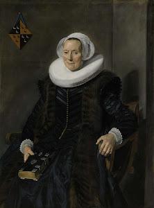 RIJKS: Frans Hals: Portrait of Maritge Claesdr Vooght 1639
