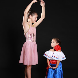 Isabella and Sam meet by Spacer Conrad - Novices Only Portraits & People ( girls, dress, ballet, ballerina, dance )