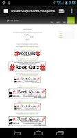 Screenshot of Root Quiz Limited