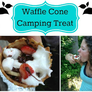 Easy Waffle Cone Camping Treat