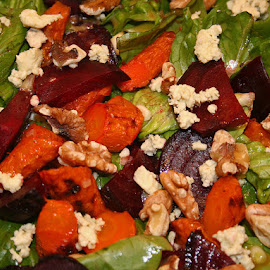 Roasted Beet and Carrot Salad by Waynette  Townsend - Food & Drink Fruits & Vegetables ( salad, beets, food, carrots, walnuts,  )
