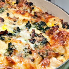 Spinach and Bacon Strata
