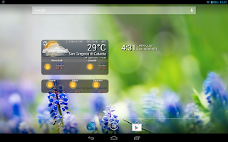 Screenshot of WeatherWidget