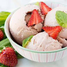 Strawberry Basil Ice Cream