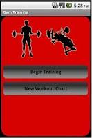 Screenshot of Gym Training