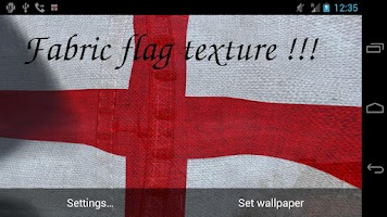 Screenshot of 3D England Flag LWP +