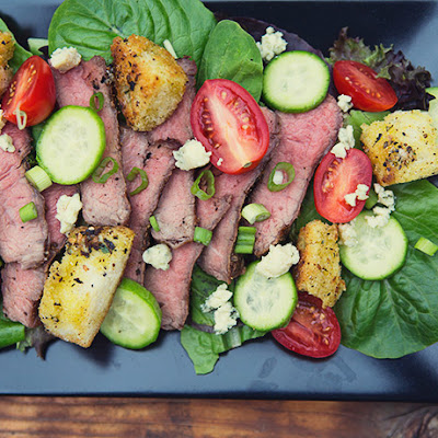 Steakhouse Salad with Grilled Ribeye and Balsamic Vinaigrette