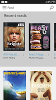 Screenshot of Issuu: A world of magazines