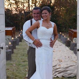 Lights of Love by Dawn Kidd - Wedding Bride & Groom