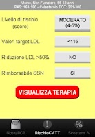 Screenshot of Rischio CV, statine, Nota 13