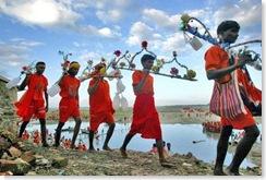 India Kanwarias Walk