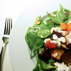 Spinach, Beet and Walnut Salad