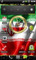 Screenshot of Iran flag clocks