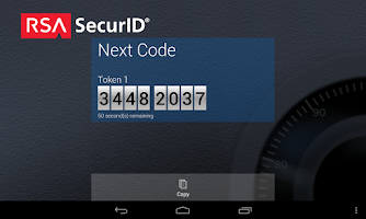 Screenshot of RSA SecurID Software Token