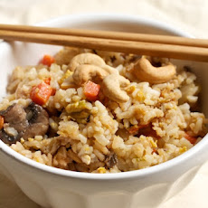 Vegetarian Fried Rice with Shiitakes and Cashews