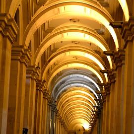 Arches by Scott Cove - Buildings & Architecture Architectural Detail ( building, melbourne, australia, arches, night )