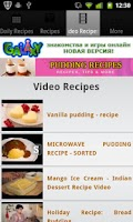 Screenshot of Pudding Recipes!