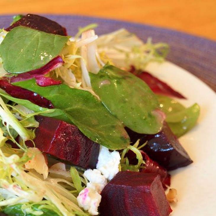 Roasted Beet Salad with Walnuts, Goat Cheese & Honey-Dijon Vinaigrette ...