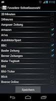 Screenshot of Schweiz Online Zeitungen