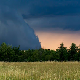 Storms-a-brewin' by Shelby Taylor - Landscapes Weather ( cloud formations, field, summer, storm )