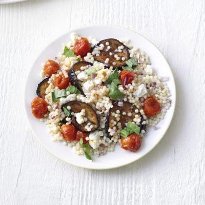 Giant Couscous & Aubergine Salad