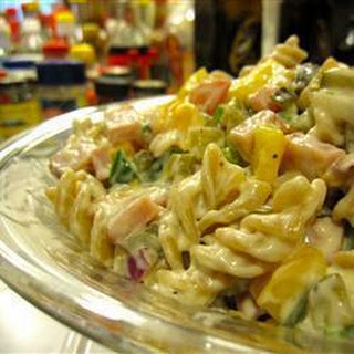 Ham and Pepper Pasta Salad
