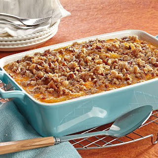Baked Apple Sweet Potatoes with Pecan Streusel Topping