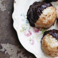 Coconut Macaroons Dipped in Chocolate Recipe